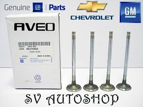 Juego Cuatro Valvula Escape Chevrolet Aveo 1.6 96376882