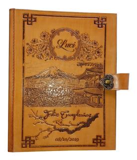 Libro Gigante Cuero 30x40 P´ Armar Scrapbook Personalizado