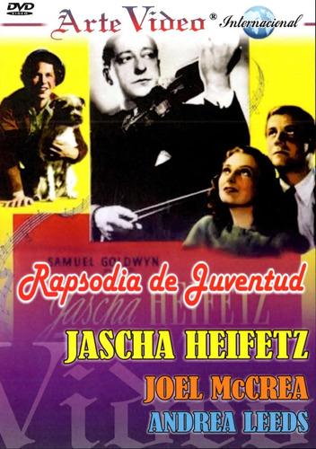 Imagen 1 de 1 de Jascha Heifetz-rapsodia De Juventud-ingles Subt. Castellano