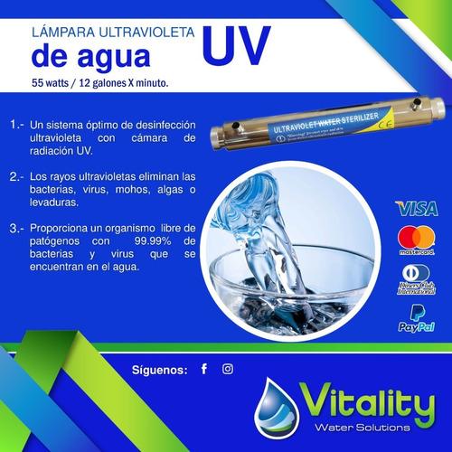 Lampara Ultravioleta Uv Germicida 55w Para Agua