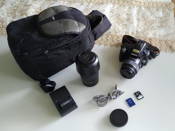 Câmera Semi Profissional Sony Alpha 33 (slt-a33) Com 2lentes