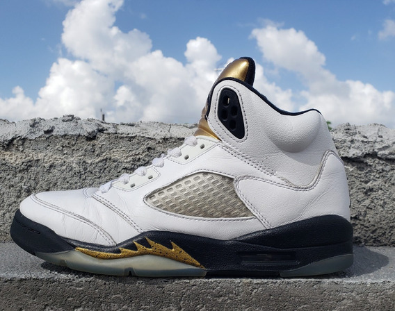Air Jordan Retro 5 Olympic Gold De Uso (24 Cm)