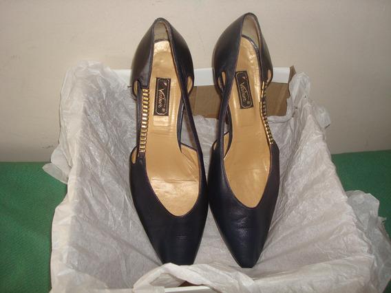 Zapatos Finos De Mujer Italianos Usados Vainer Suela Vero
