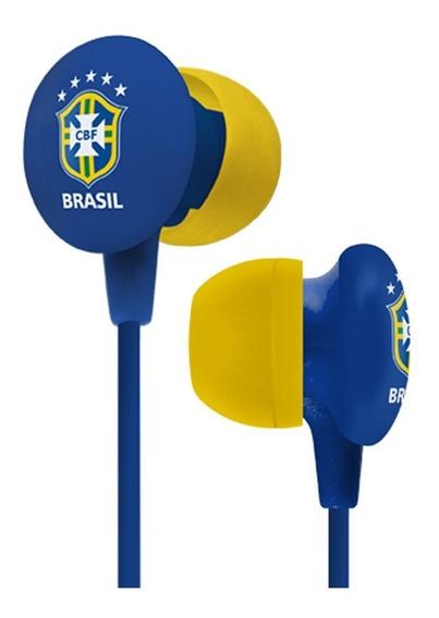 Fone De Ouvido Cbf Seleção Brasileira Waldman Super Fan Azul
