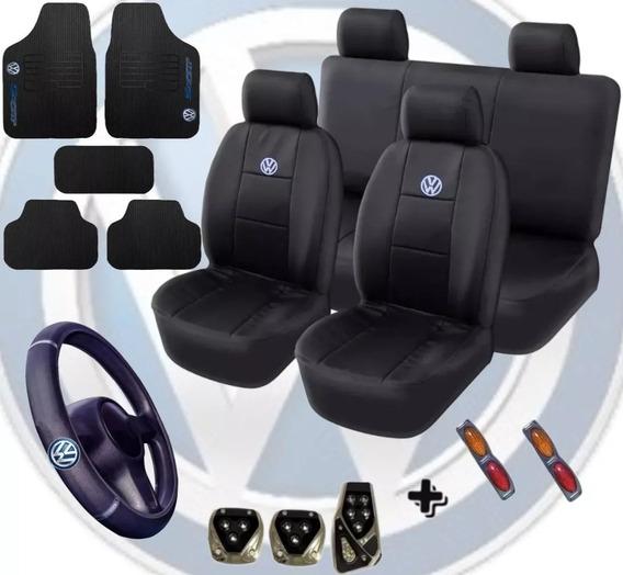 Kit Capa Couro Tapete Pedaleira Volante Volkswagen Promoção