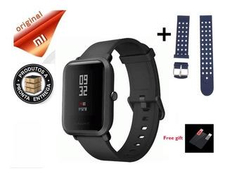 Relógio Smartwatch Xiaomi Amazfit Gps + Pulseira E Película