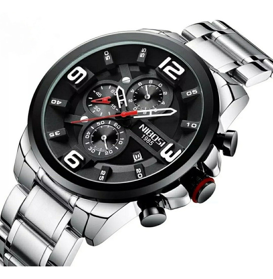 Relógio Masculino Vidro Hardlex Anti Risco 100% Funcional