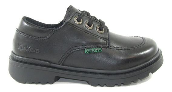 Zapatos Escolar Kickers Kero Nena Nene Cuero 27-33