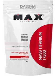 Mass Titanium 17500 Hipercalórico Refil 3 Kg - Max Titanium