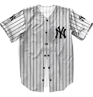 Camisa Personalizada Jersey Baseball Ny Americana Sob.medida