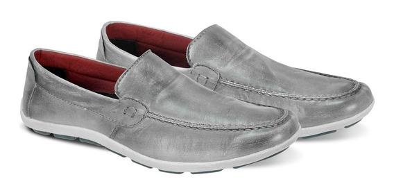 Sapato Masculino Mocassim Couro Jeans 175-08