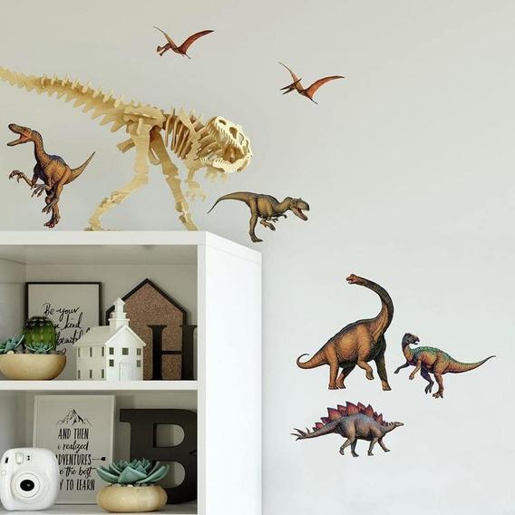 Calcomanía Stickers Para Cuarto Niño. Diseño De Dinosaurios