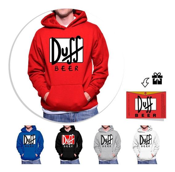 Envío Gratis Sudadera Duff + Sticker, 5 Colores Disponibles A Elegir