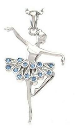 Colar Bailarina Dançando Em Strass