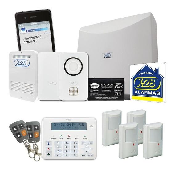 Kit Alarma Casa X-28 Full 8 Zonas Inalámbrica Celular Remoto