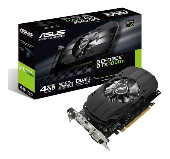 Placa De Video Asus Nvidia Geforce Gtx1050ti 4gb Gddr5 Gamer