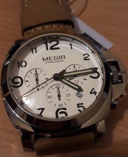 Megir 3406_cronometro Cuero Panerai Style_oportunidad