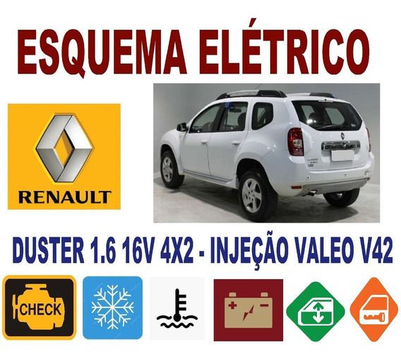 Esquema Elétrico + Injeção Valeo 42 Duster 1.6 16v Leia Tudo