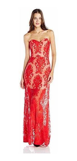 Sexy Vestido Rojo De Noche