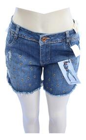 Short Jeans Feminino Sawary Tamanho 40 Liquidação - 249667