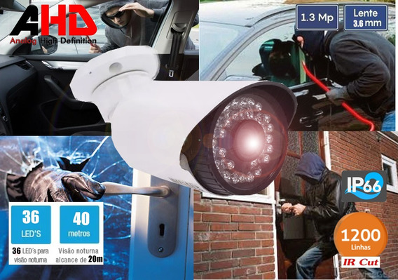Camera Infra 36leds Ahd 1.3 Mp 40m Ircut (externa)