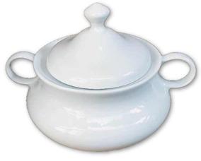 Sopeira Branca Grande Em Porcelana