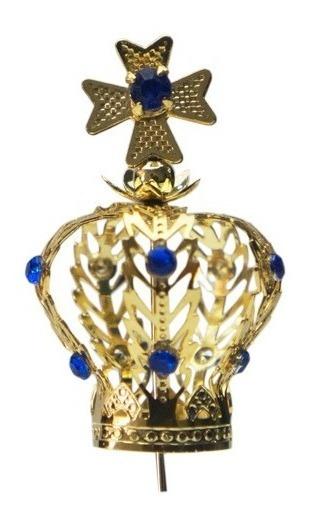 Coroa Nº 10 Folheada Nossa Senhora Aparecida + 1 Coroa N5