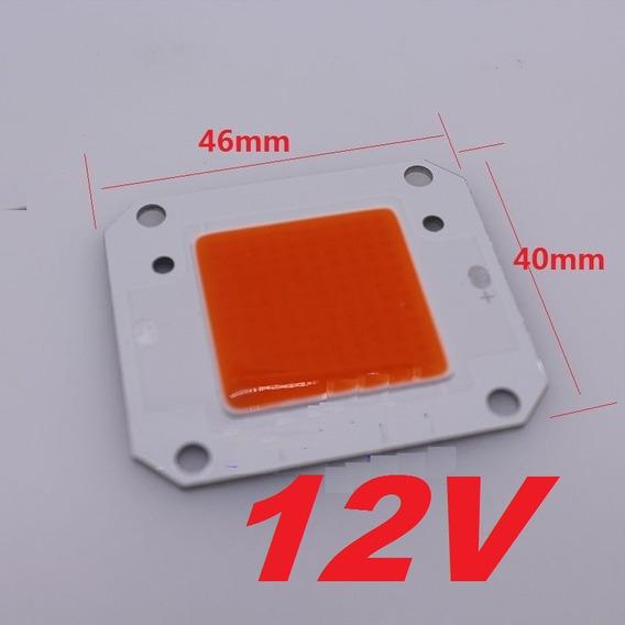 Kit 2 Chip Led 50w 12v Full Spectrum+fonte 10a+2 Dissipador