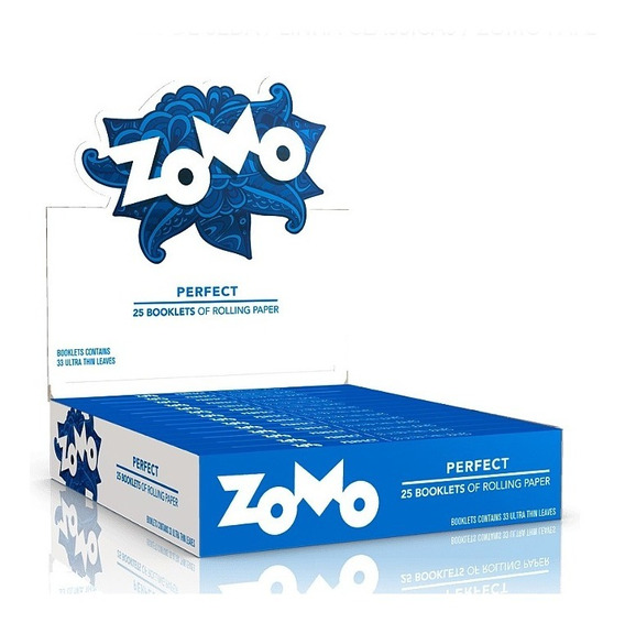 Caixa Seda Zomo Branca Perfect Smoking Com 25 Barato Grande