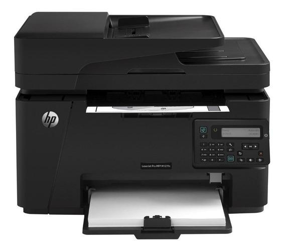 Impressora a cor multifuncional HP LaserJet Pro M127FN 110V - 127V preta