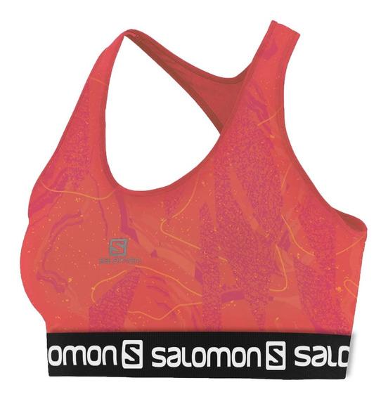 Top Salomon Feminino - Impact Graphic Bra Ii - Running