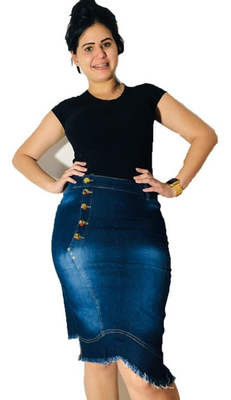 Saia Kit 5 Pecas Jeans , Lycra 1 Luxo Atacado