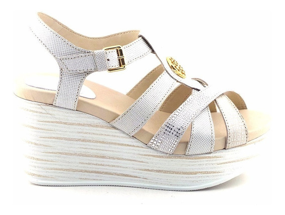 Sandalia Cuero Mujer Cavatini Zapato Plataforma Mcsd04538 Pj