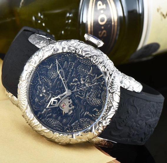 Relógio Invicta 25080 Prata S1 Dragão Automático * Yakuza