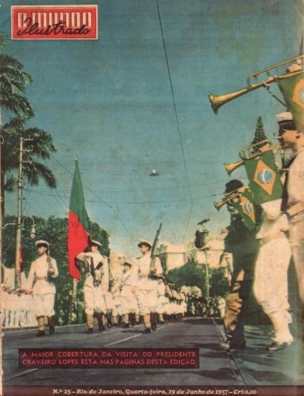 Mundo Ilustrado 1957 Visita Do Presidente Craveiro Lopes