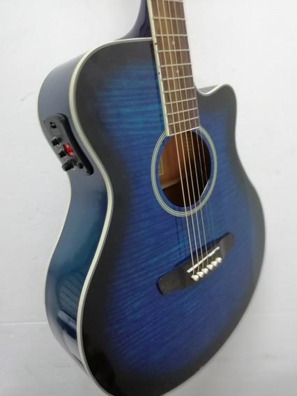 Guitarra Electroacústica Parquer Cuerdas De Metal Accesorios