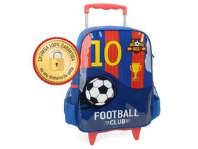 Mochila Infantil Futebol Club C/ Rodinhas Escolar