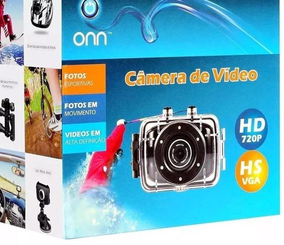 Câmera Filmadora De Ação Onn 5mp Hd Hs Vga Tela Touch