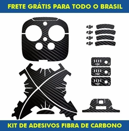 Adesivo Fibra De Carbono Para Drone Dji Phantom 3 / 2 / 1