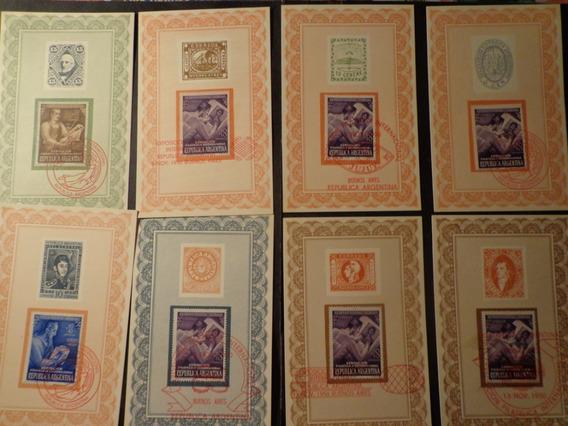 1950-8 Diferentes Motivos Sobre N° 987-88 Y 89-impecables