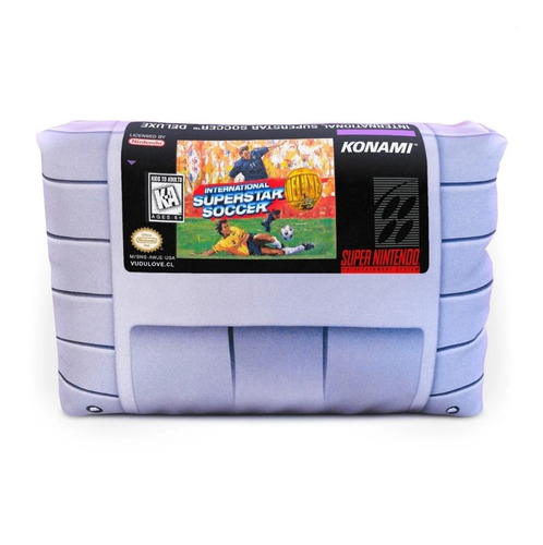 Cojín Snes International Superstar Soccer 30x20cm Vudú Love