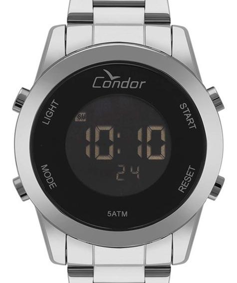 Relógio Condor Digital Feminino Cobj3279ab/3p Prateado + Nf