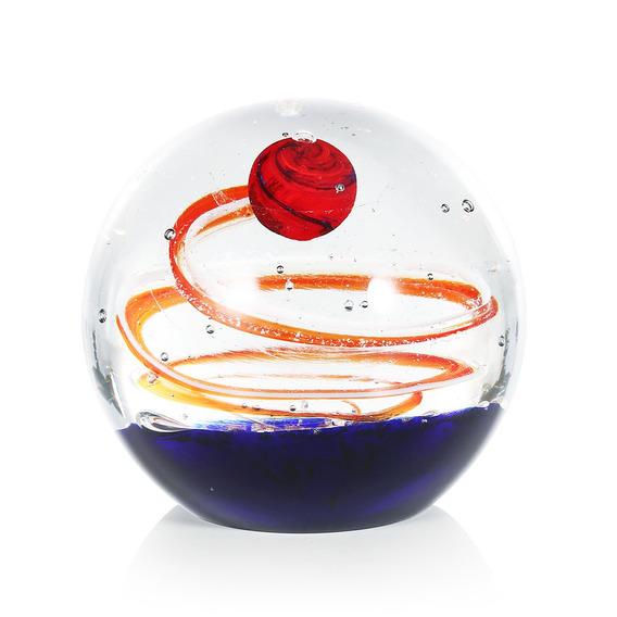 Esfera De Vidro Bola De Vidro Escultura M?o Soprado Art Mesa