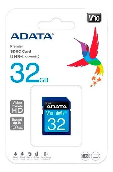 Adata Memoria Sd 32gb Uhs-i Clase 10 Camaras 50mb/s /k