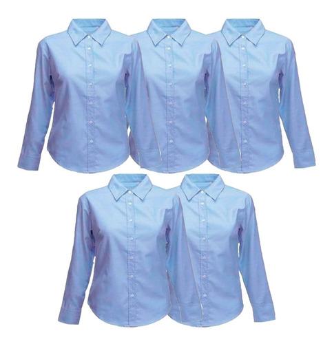Camisas Oxford Dama O Caballero Por 5 Unidades