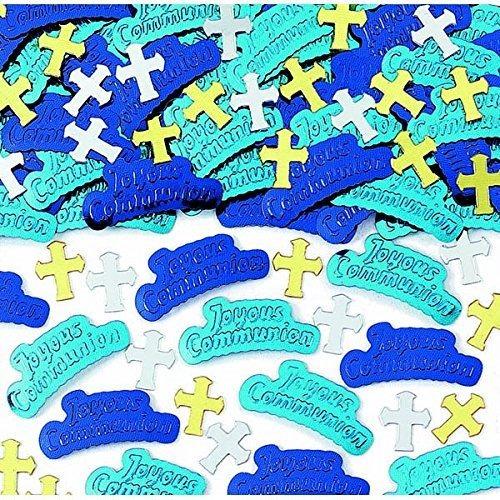 Primera Comunion Azul Decoracion De Fiesta De Confeti En Rel