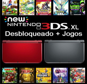 New 3ds Xl Nintendo + Cartão Sd 32gb + Case + Caixa