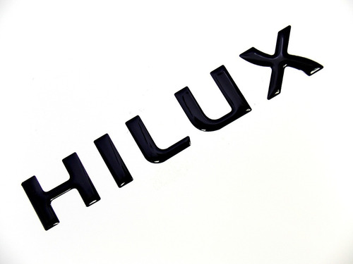 Adesivo Parachoque Toyota Hilux Preto Cm Resinado Fv