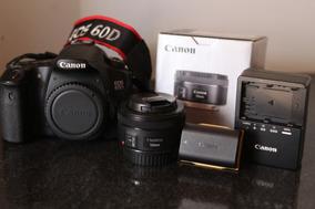 Canon 60d + Lente 50m Stm Bateria+carregador