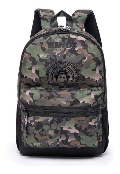 Mochila Kings Sneakers Army Original Militar Camuflada